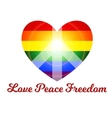 love peace freedom vector image vector image