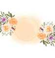lovely watercolor flowers frame with text space vector image vector image