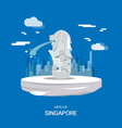 merlion landmark and tourist attraction in vector image