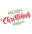 merry christmas modern calligraphy phrase quote vector image