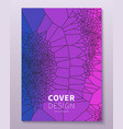 minimal voronoi covers design geometric glass vector image