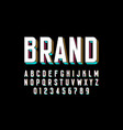 modern bold 3d font design alphabet letters and vector image vector image