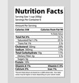 nutrition facts banner bright vector image