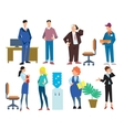 Office people isolated on white background vector image vector image