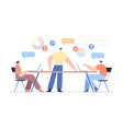 Office work concept team partnership modern