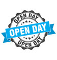 open day stamp sign seal vector image vector image