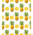 pineapple seamless pattern geometric vector image vector image
