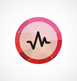 pulse circle pink triangle background icon vector image vector image