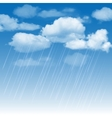 rainclouds and rain in blue sky vector image vector image