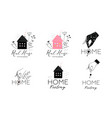 real estate housing logotype design collection vector image vector image
