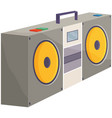 retro tape recorder for audio cassettes vector image vector image