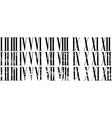 Roman numerals vector image vector image
