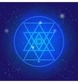 Sacred geometry simbol in space Geometry 3d vector image vector image