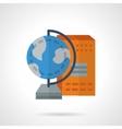 School supplies flat color icon Geography vector image