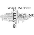 seattle word cloud concept vector image