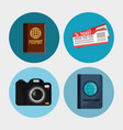 set elements vacation travel vector image vector image