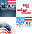 set of abstract background of american vector image vector image