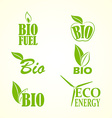 Set of bio and eco labels vector image vector image