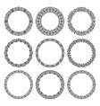 set round frames in oriental motifs vector image