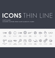 smart glasses thin line icons vector image