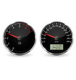 speedometer and tachometer black 3d vehicle vector image vector image