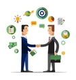 Successful partnership business people vector image