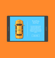 taxi car order app screen vector image vector image