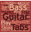 The Art Behind Bass Guitar Tabs text background vector image vector image