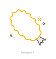 Thin line icons Tempura vector image vector image