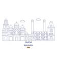varna city skyline vector image vector image