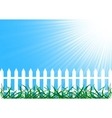 vector background with fence vector image vector image