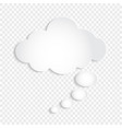 white thought bubble cloud on transparent vector image