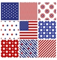 Set of seamless in american colors vector image