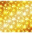 Christmas golden glitter background vector image