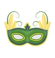 Brazilian carnival mask icon in cartoon style vector image