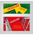Business City Banners vector image