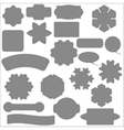 Set of Different Grey Banners vector image
