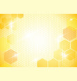abstract background with honeycombs vector image vector image