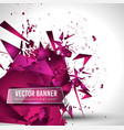 abstract background with shapes explosion vector image
