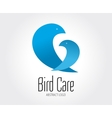 Abstract bird logo template for branding vector image