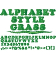 ALPHABET STYLE GRASS vector image