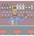 Barman in the pub vector image