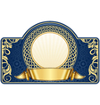 blue label with circle frame vector image vector image