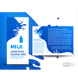 brochure folder milk element design vector image vector image