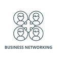 business networking line icon linear vector image vector image