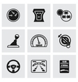 Car dashboard icon set vector image