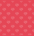 cardiac cycle outline red seamless pattern vector image