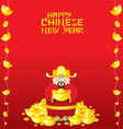 Chinese New Year Frame with Chinese God vector image vector image