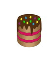 chokolate cake vector image vector image