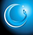 circular christmas icon mary with bajesus vector image vector image